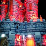 Red Lighting on castle