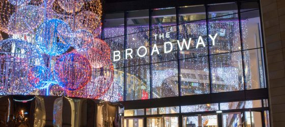 The Broadway in lights