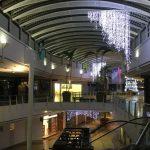 hanging white lighting shopping centre