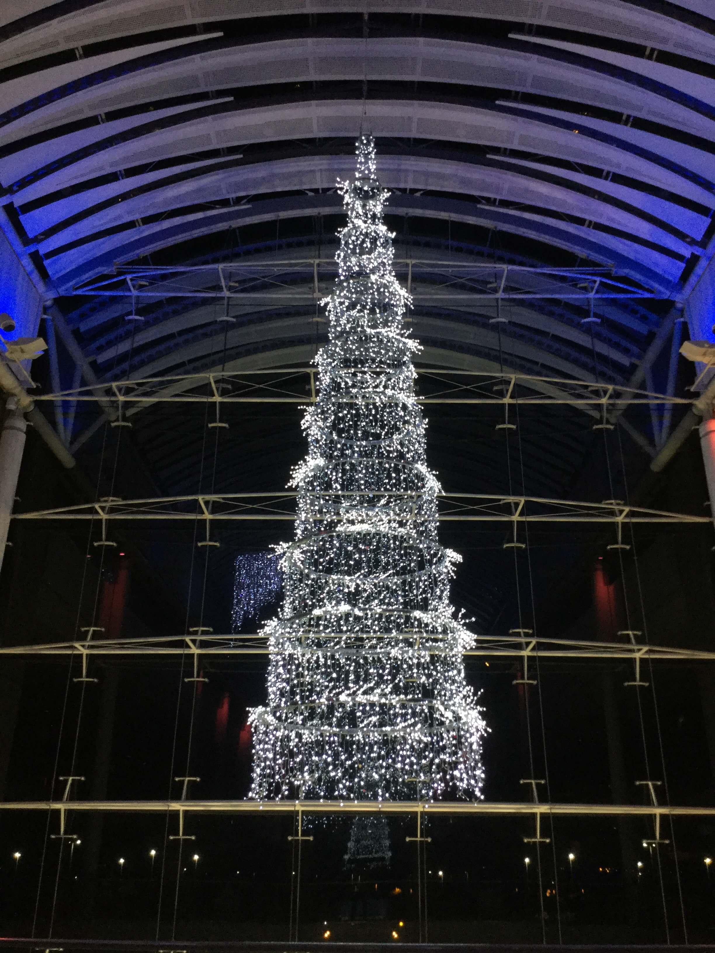 Large White Christmas tree