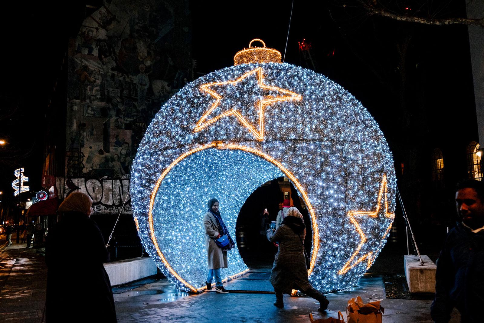 fitzrovia bauble illuminated