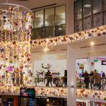 Shopping Centre festive lighting hanging