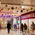 Shopping Centre present decorations