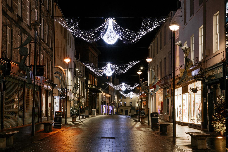 Perth white festive lighting