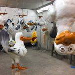 Hanging up seagulls