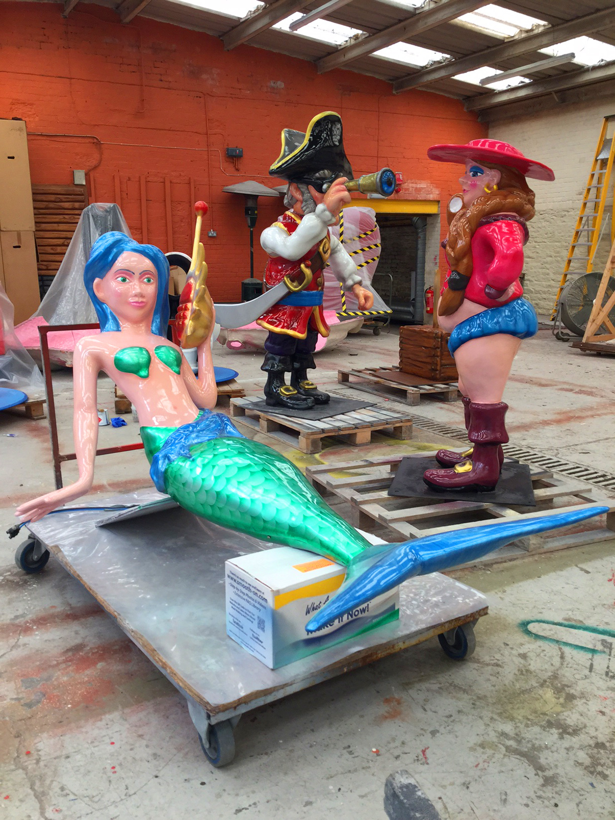 Mermaid and Pirates in factory