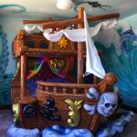 Pirate bed in room